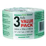 Painter's Mate Green Masking Tape 3-Pk, 180-ft x 1-in