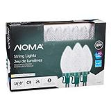 NOMA 25 Outdoor C9 LED Christmas Lights, Red