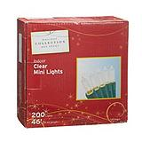 Emerald 200-Mini Indoor Incandescent Christmas Lights, Assorted Colours