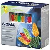 NOMA 50 Outdoor C6 LED Solar Christmas Lights, Multi-Colour
