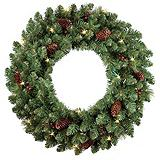 NOMA Pre-Lit LED Carolina Wreath, 24-in