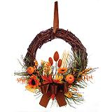 Harvest Rattan Wreath, 12-in