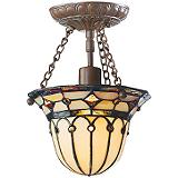 Wellesley Tiffany Semi-Flush Light Fixture