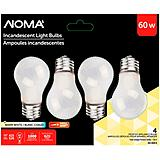 GE 60W A15 Multi-Purpose White Bulbs, 4-Pk