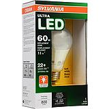 Sylvania A19 60W Equivalent Dimmable LED Bulb