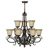 For Living Cecilia 9-Light Bronze Chandelier