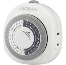 NOMA Outdoor Lighting Timer with Automatic OnOff 1 Outlet