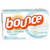 Bounce Free and Sensitive Fabric Softener Sheets