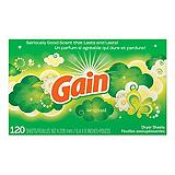 Gain Original Fresh Fabric Softener Dryer Sheets, 120-Pk