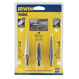 Irwin Unibit Step Drill 3-piece Bit Set