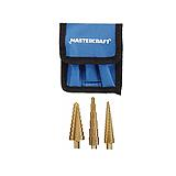 Mastercraft Step Drill Set, 3-pc