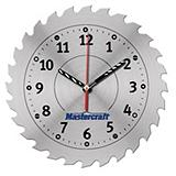 Mastercraft Saw Blade Shop Clock, 10-in