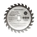 24-Tooth Carbide Saw Blade, 7-1/4-in