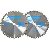 Mastercraft 7-1/4-in 2-piece Carbide Circular Saw Blade Set