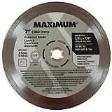 Mastercraft Maximum Continuous Rim Diamond Blade, 7-in