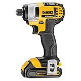 DeWALT 20V MAX Lithium Ion 1/4-in Impact Driver Kit