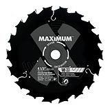 MAXIMUM 18T General Purpose/Framing Circular Saw Blade, 6-1/2-in