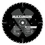 MAXIMUM 40T General Purpose/Framing Circular Saw Blade, 10-in