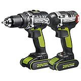 Rockwell Brushless 20V Max Cordless Drill and Impact Wrench Kit