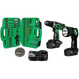 Hitachi 18V Drill/Driver Kit with Accessory Set, 50-pc