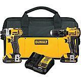 DeWALT 20V Max Li-Ion Drill & Impact Driver Kit