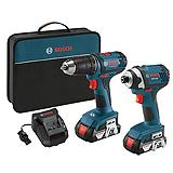 Bosch 18V Li-Ion Drill Driver and Impact Driver Combo Kit