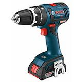 Bosch 18V Li-Ion Compact Tough™ Hammer Cordless Drill Driver, 1/2-in