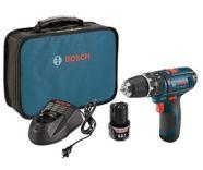 Bosch 12V Max Li-Ion Cordless Hammer Drill Driver, 3/8-in