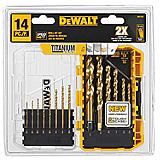 DeWALT 14-piece Titanium Pilot Point Drill...