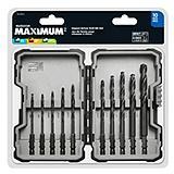 MAXIMUM 10-pc Impact Hex Shank Drill Bit Set