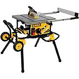 DeWALT 15A Compact Jobsite Table Saw with Rolling Stand, 10-in