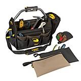 Kuny's 15-in LED Open Top Tool Tote