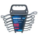 Mastercraft 7-piece Offset Box-end Wrench Set, Metric