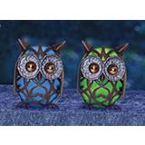 Solar Wise Owls Lawn Decor