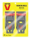 Victor Quick Set Quick Kill Set Mouse Trap, 2-pk