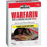 Wilson Warfarin Rat and Mouse Killer Pellets, 1-kg
