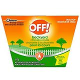 Bougie OFF!, 1 m�che, citronnelle