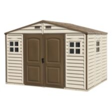 Duramax woodside vinyl shed 10 1 2 x 8 ft canadian tire for Cabanon jardin pvc