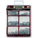 Buildex Washer Flat/Lock Kit, 156-pc