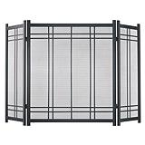 Preston Vintage 3-Panel Fireplace Screen