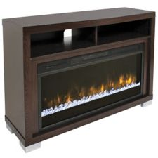 Muskoka Josephine Electric Fireplace will provide a warm and cozy ambiance Features a contemporary design with a warm espresso woodgrain finish