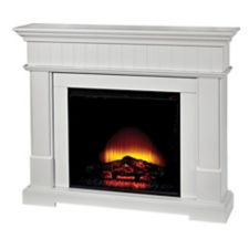 Canvas Harlow Electric Fireplace White Canadian Tire