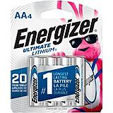 Energizer Ultimate Lithium AA Batteries, 4-Pk