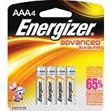 Energizer Advanced Alkaline AAA Batteries, 4-Pk