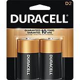 Duracell Copper Top Alkaline D Batteries, 2-pk