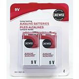 Likewise 9V Batteries 4 Pack