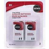 Likewise 9V Batteries 2 Pack