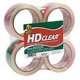 Duck HD Clear Tape, 4-pk
