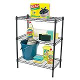 3-Tier Black Wire Shelf