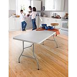 For Living 6-ft. Folding Table with Castors